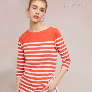 Anthropologie Maeve Bonnie Boatneck strip top